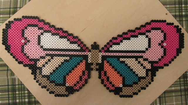 Butterfly hama beads by catz2000