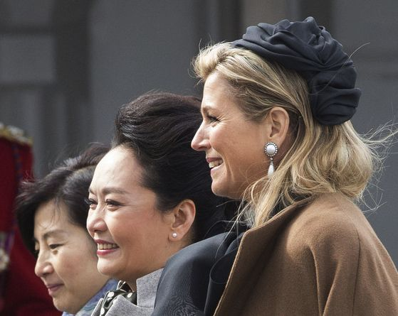 Queen Máxima, March 22, 2014 in Fabienne Delvigne | The Royal Hats Blog