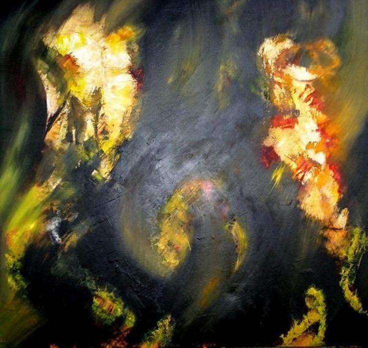 """""""The Severity Of The Abyss"""" """"La Gravedad De Los Abismos"""" Oil on canvas 120x120 cms"""