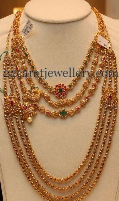 Jewellery Designs: Dancing Peacocks Step Necklace