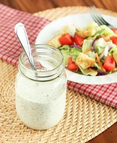 The Old Spaghetti Factory's Creamy Pesto Salad Dressing. Have you had this?? It's SO delicious!!