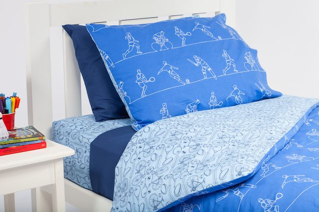 Cool Kids Rooms gorgeous Sportsmen quilt cover will be loved by any sports mad boy.