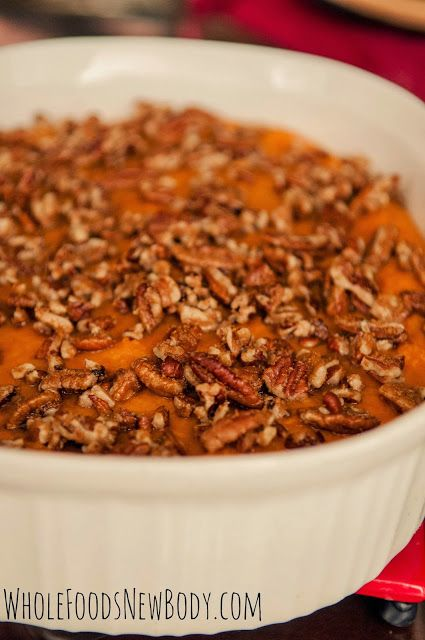 {Clean Eating Sweet Potato Souffle} You will never know this is healthy!