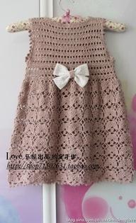 crocheted dress for little girl
