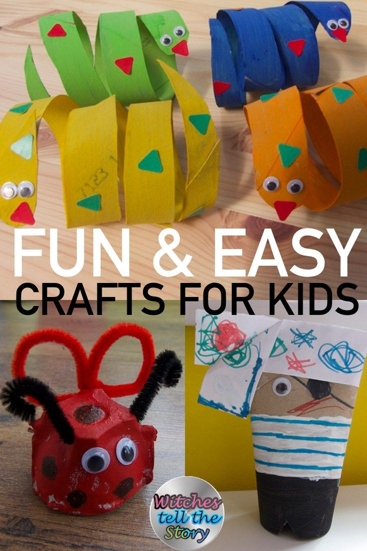 Easy Kids Crafts!! A Page full of crafts for children as young as 2 years old. Crafts can be made using TP Rolls, Egg Cartons, Paper Plates and many other recyclable materials. Check it out for the cool crafts you can do with your children.