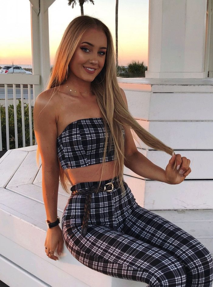 c4eff6a3b09 30 Summer Outfit Ideas To Try in 2018. trendy summer outfit idea   plaid set