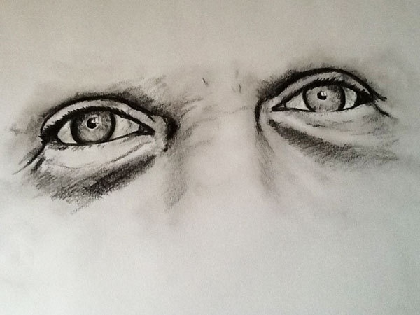 Eyes in Pencil by Sarah Whittle, via Behance