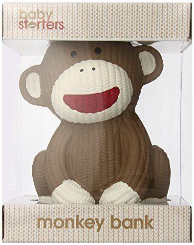 Babystarters Sock Monkey Ceramic Bank, Brown, http://www.amazon.com/dp/B00GWZWGTA/ref=cm_sw_r_pi_awdm_nsfRub13CP18T