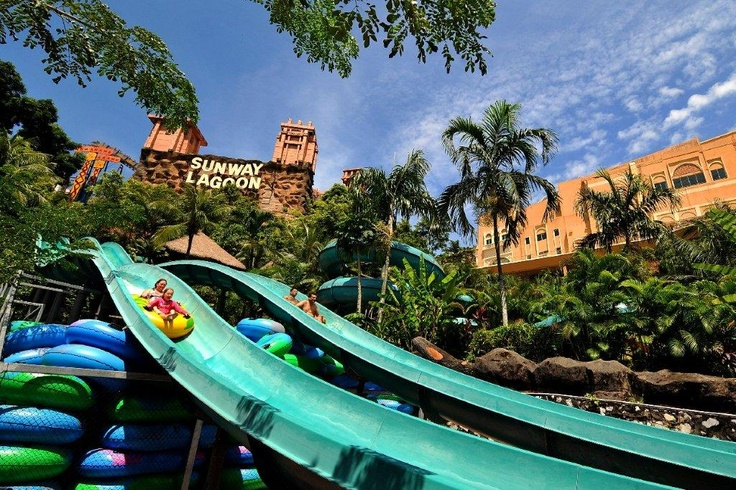 Jump on the water slides at Sunway lagoon.