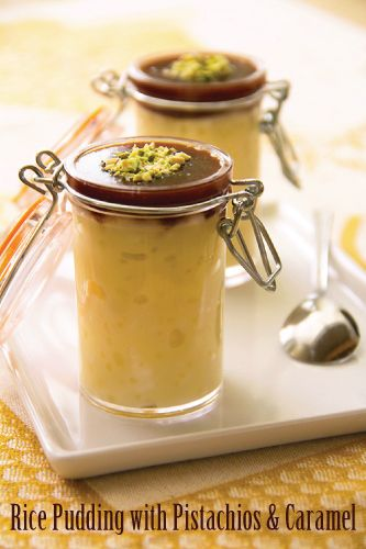 Rice pudding with pistachios & salted caramel | Sippity Sup