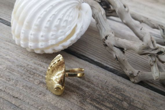 Seashell Ring, Beach Jewelry, Nautical Sea Shell Rings, Shell Rings, Summer Ring, Beach find, Sea Creatures, Sea Finds, Gift for Her