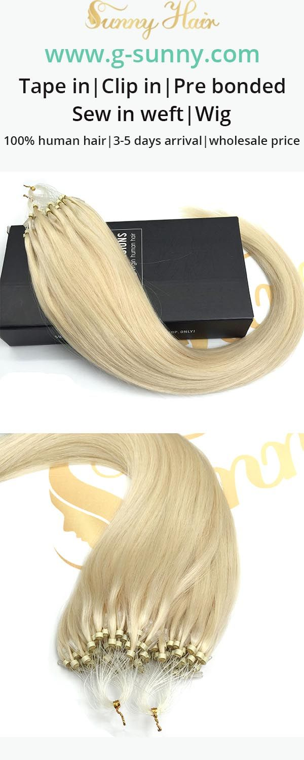 Best 59 Sunny Hair Micro Ring Loop Human Hair Extensions Ideas On