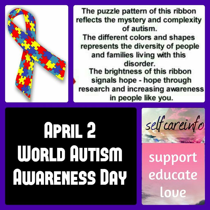 Today, April 2, is World Autism Awareness Day! Sending all my love & hugs out there to the amazing people & families living with Autism. Let's celebrate you today & get some awareness happening!! #worldautismawarenessday #2016 #autism #awareness #awarenessday #education #support #love #understanding #celebrateyou  © www.selfcareinfo.com  Feel free to share around! However, any use of this content for purposes other than personal/non-commercial use is strictly prohibited without prior written…