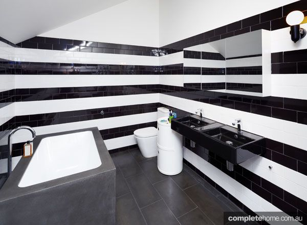 A Black And White Bathroom Design.