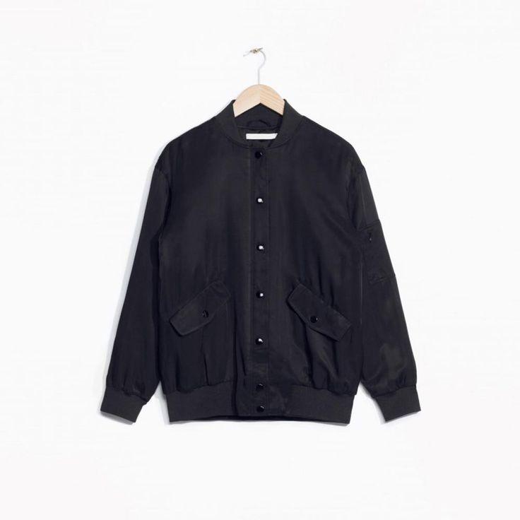 Women Bomber Jacket Black Stand Collar Single-Breasted Coat Fashion Jackets Winter Autumn Basic Coats Outwear