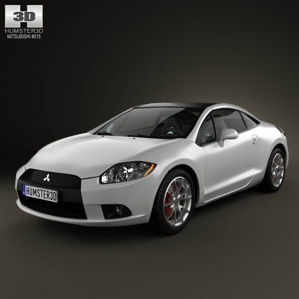 Mitsubishi Eclipse 2012 3d model from humster3d.com. Price: $75