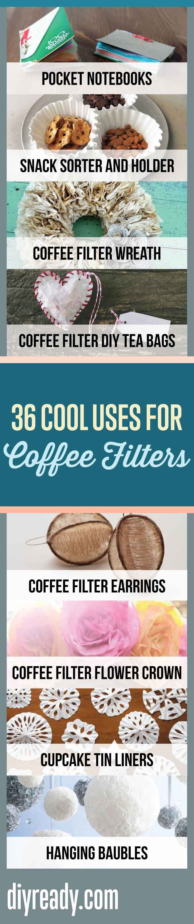 36 Cool Uses For Coffee Filters That Will Surprise You | Creative Ways To Upcycle Coffee Filters By DIY Ready. http://diyready.com/uses-for-coffee-filters-diy-projects-and-ideas/