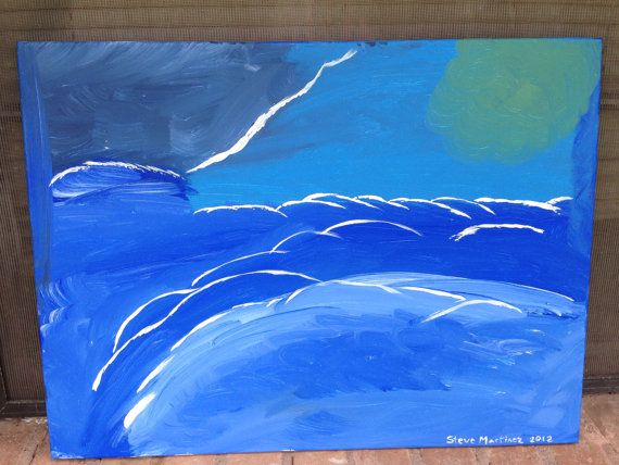 Above the Clouds Painting 18x24 Canvas by prdad007 on Etsy, $150.00. A break in the cloud.