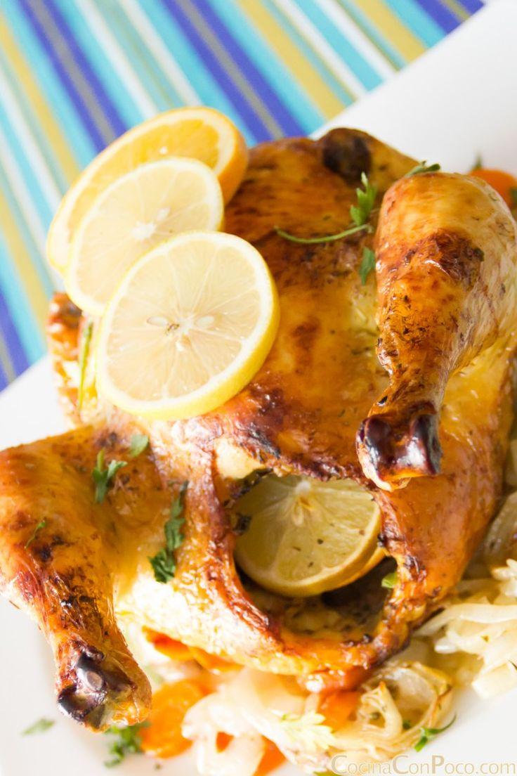 pollo al horno asado receta