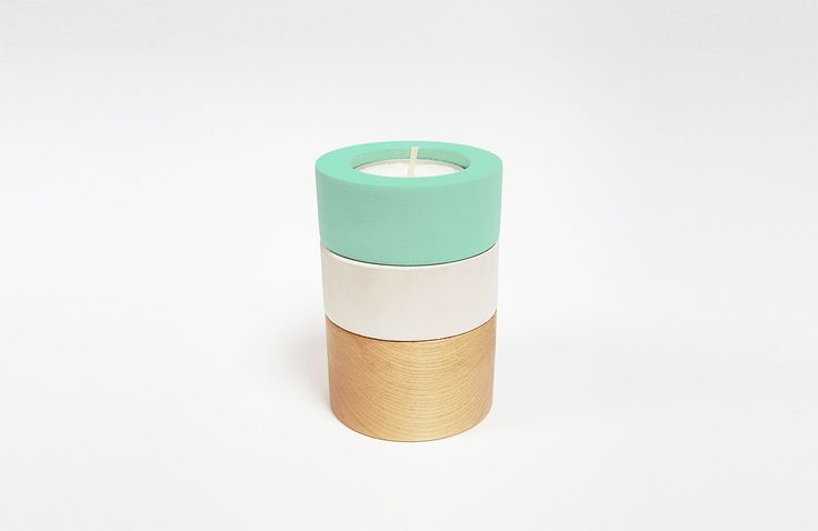 This variable product in modern, pure scandinavian design is inspired by simple wooden toys, which symbolizes playfulness and bring us back in time to our childhood...   You can use it as one tall candle holder, where you can change the order of individual parts or as 3 small candleholders which you can use as a small plant pots as well. Just use the metal cup from the burned out candle and place your small plant in...