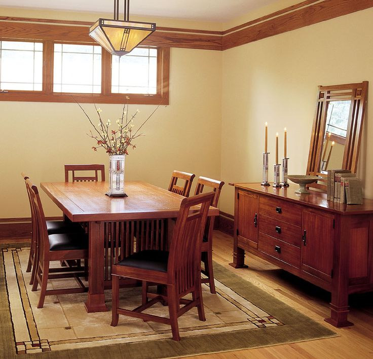 25 best ideas about craftsman home interiors on pinterest craftsman style homes craftsman - Mission style dining room furniture ...