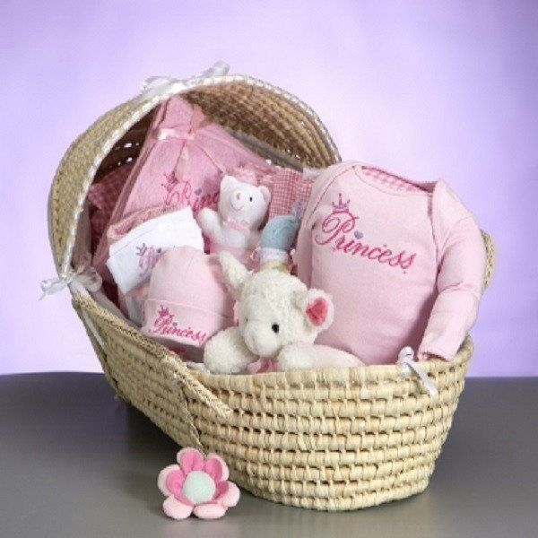 34 best personalized baby girl gifts images on pinterest baby moses basket deluxe baby girl giftsbaby negle Image collections