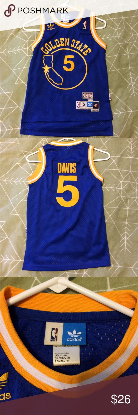 Golden State Warriors - Baron Davis 5 Jersey Golden State Warriors - Baron Davis 5 Jersey Adidas Shirts & Tops Tank Tops