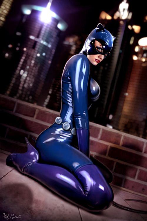 Cat Woman cosplay DC Batman