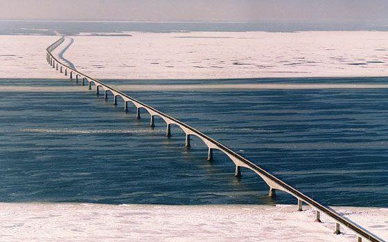 Confederation Bridge in Winter
