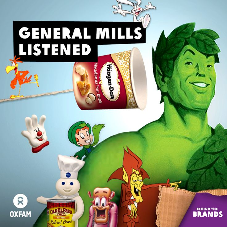 Exciting news! General Mills - the maker of brands like Old El Paso, Häagen-Dazs and Green Giant - announced today that they are taking HUGE steps to address climate change in their operations and supply chain. And it's all thanks to you and the 230,000 supporters who joined Oxfam's Behind the Brands campaign.  https://www.oxfamireland.org/blog/behind-brands-general-mills