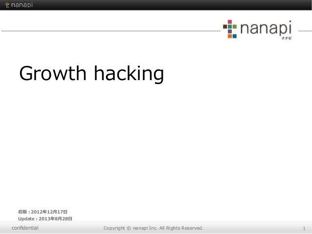 有名サイトのGrowth hackテクニック色々〜Quora、facebook、twitterなど〜 by Kazuhide Harada via slideshare