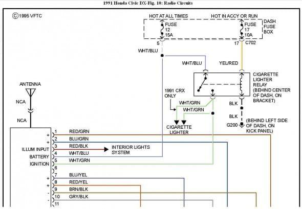 98 honda civic radio wire diagram 1991 honda accord stereo wiring diagram mari 5 espressotage de  1991 honda accord stereo wiring diagram