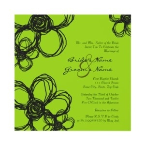 Black And Lime Green Wedding Colors