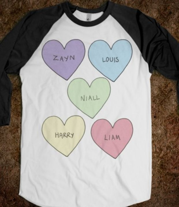 Zayne Louis Niall Heart Black and White BaseBall T shirt