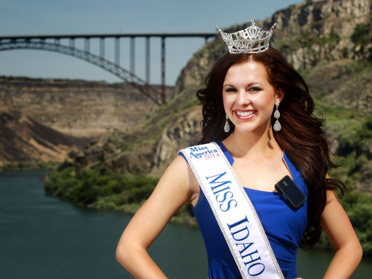 Miss Idaho Sierra Sandison, shown here in her home town of Twin Falls, Idaho, decided not to hide the insulin pump she wears to treat Type 1...