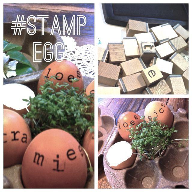 eieren versieren met stempels | letter stamp your egg