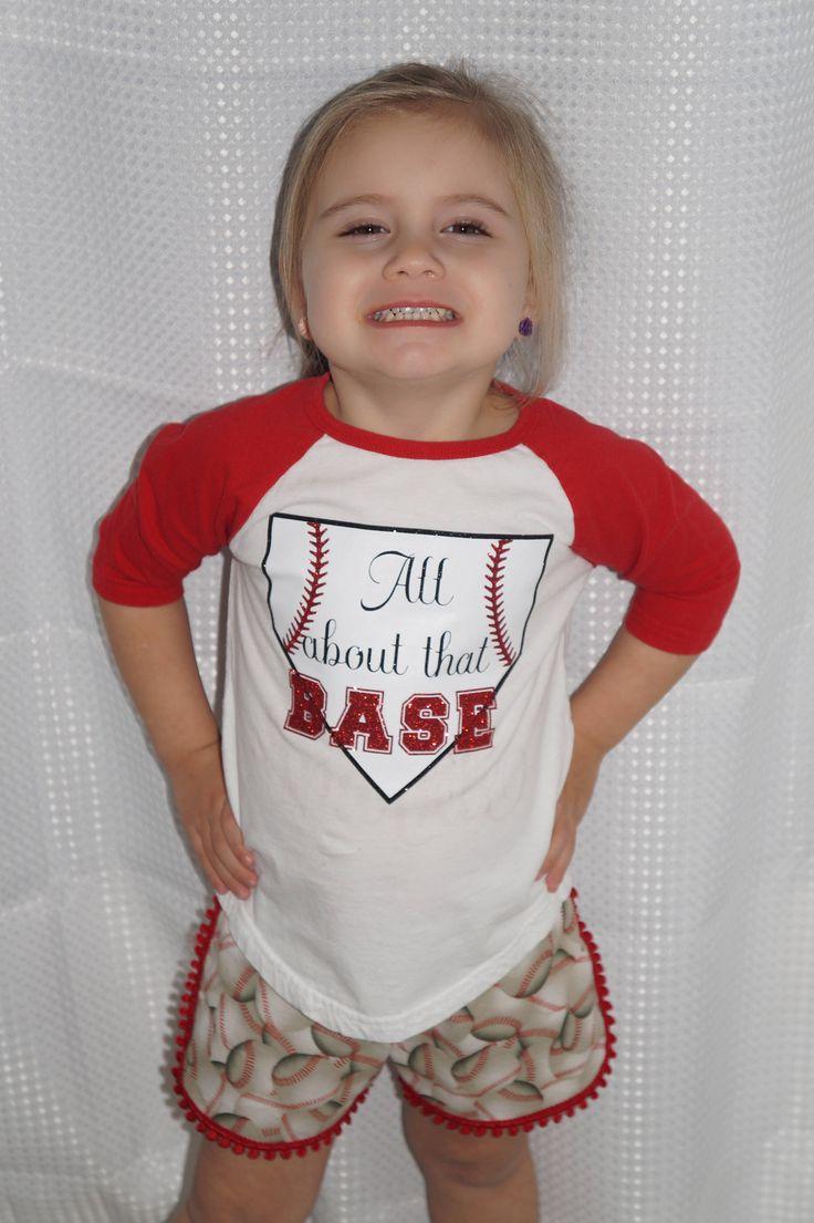 Toddler Girls All About That Base Baseball Outfit,Baseball Shorts,Coachella Shorts,Racer Shorts,Baseball Outfit,Sister Baseball Shorts Set by BizzyAsABabee on Etsy