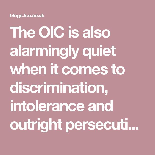 in the organisation's own member states. No OIC countries have criticised Saudi Arabia's ban on churches. Nobody has directed attention to the increasing violence against Hindus in Malaysia. Nobody has spoken out against Egyptian newspapers for printing anti-Semitic cartoons. Nobody has criticized the many victims of the strictly enforced blasphemy laws in powerful OIC member states such as...