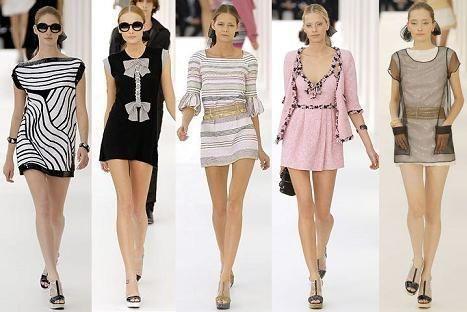 Модели костюмов и платья в стиле шанель