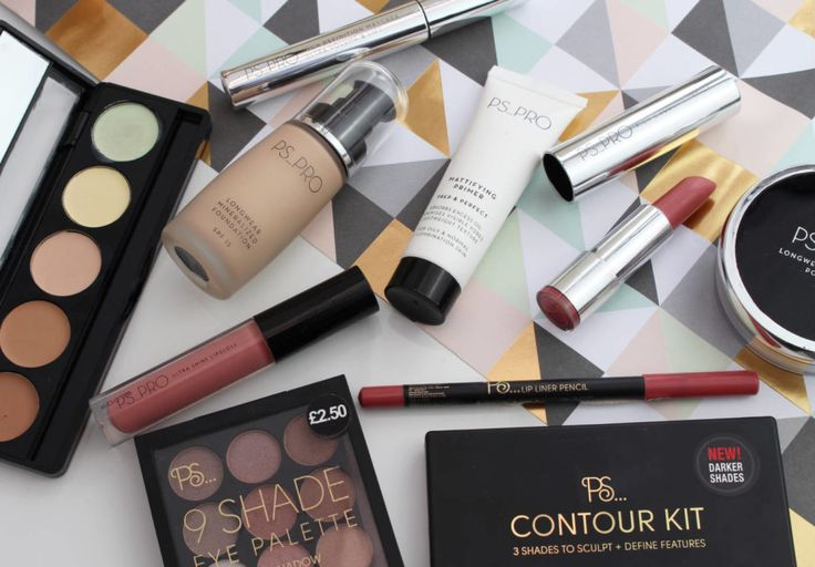 First impressions of Primark PS PRO makeup. Makeup flatlay, flatlay of makeup. Primark makeup first impressions and Primark beauty range.