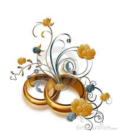 59 best Wedding rings flowers images on Pinterest Royalty free