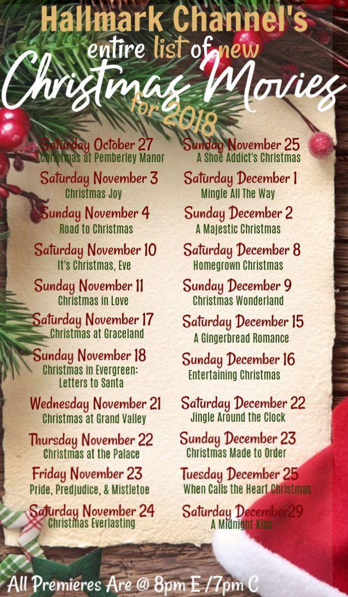 Every New Hallmark Christmas Movie Debuting In 2018 Hallmark Christmas Movies Hallmark Channel Christmas Movies New Hallmark Christmas Movies