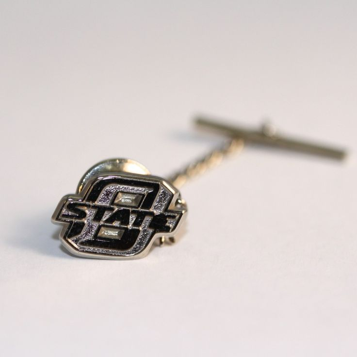 Engagement Rings Okc: Sterling Silver O-State Tie Tack #OkstateJewelry