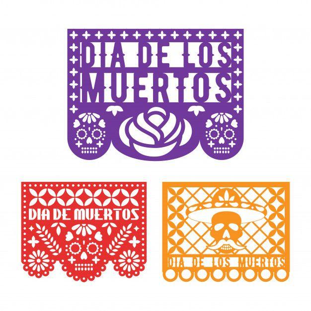 Plantillas De Papel Picado Para El Dia Mexicano De Los Muertos Calavera De Papel Dibujo Dia De Muertos Artesanias Con Servilletas De Papel