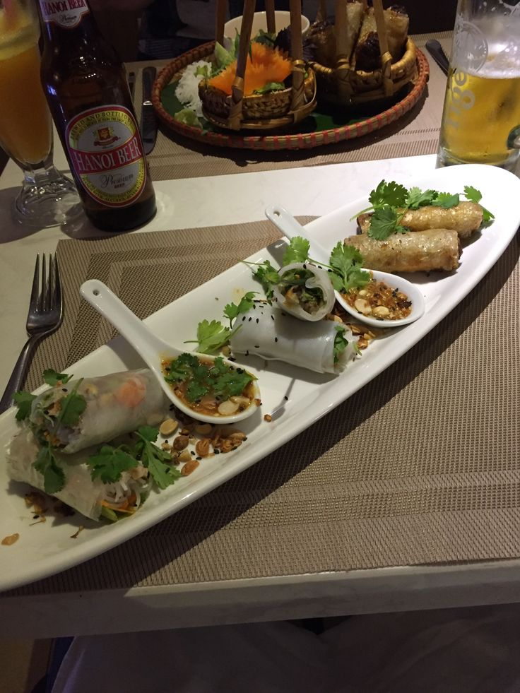 Fresh and deep fried spring rolls festival (Feb 2017, Hanoi, Vietnam)