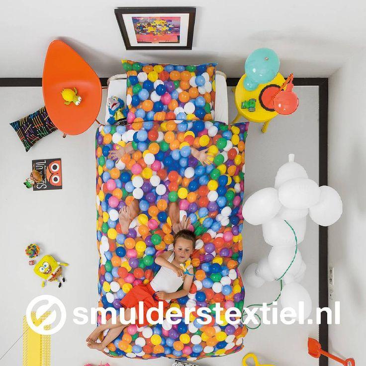 Ballenbak! #SNURK #ballpit #dekbedovertrek #overtrek #kinderdekbed #beddengoed…