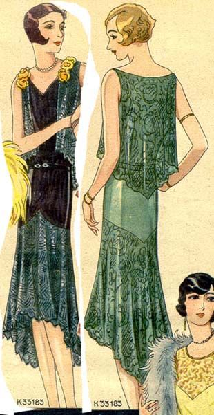 1929 Beyer's Modenblatt evening dress, from Germany