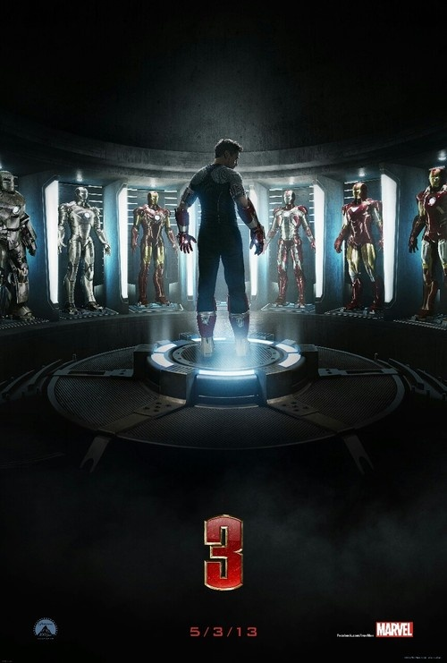 Iron Man 3 poster.  Unf.  Bring on May!