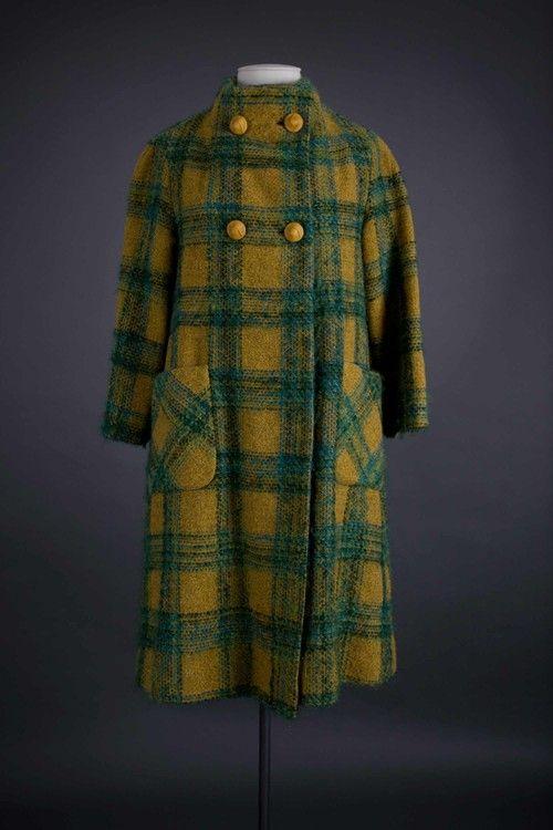 Wool check coat & hat 1966