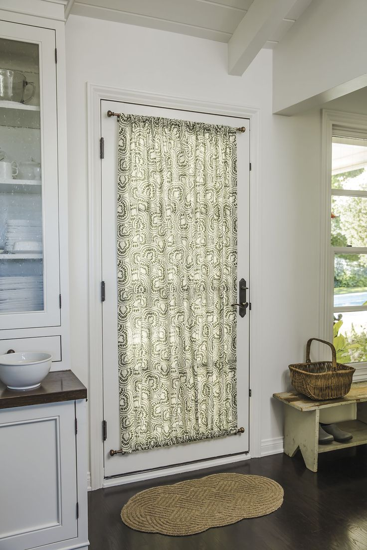 Rod Pocket Top Bottom In 16358 Cora Olive Door Kitchen Drapery